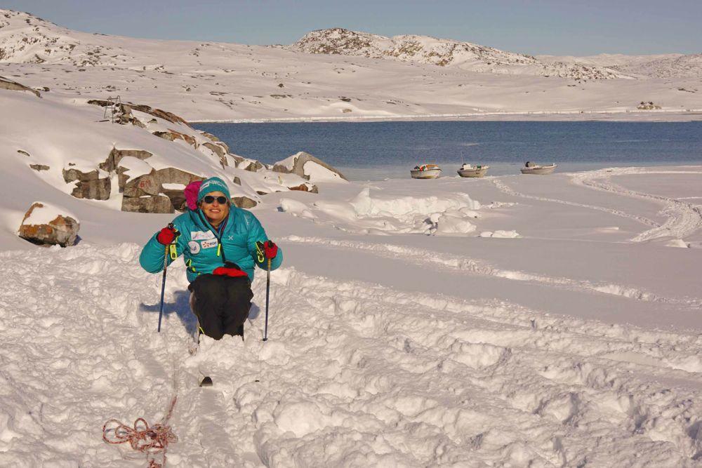 Beaucoup mieux avec les skis…